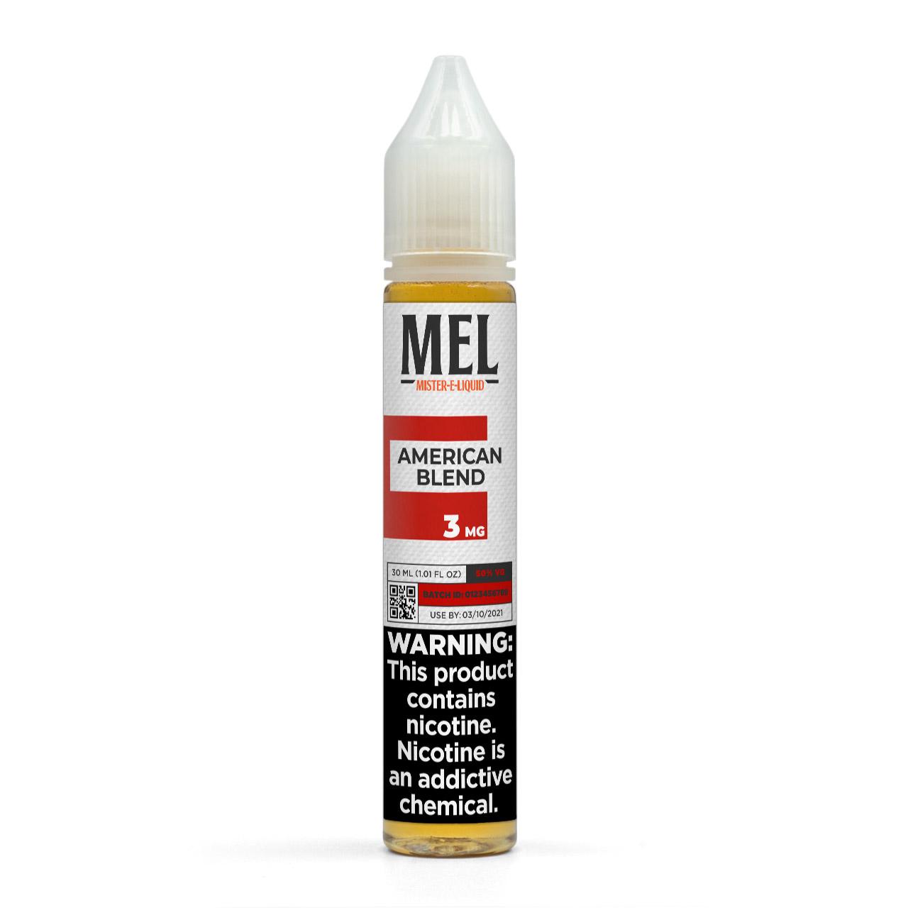MEL American Blend Vape Juice, 3 mg