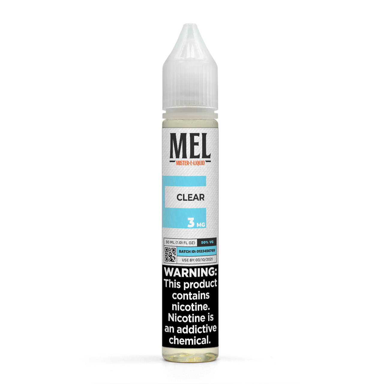 MEL Clear Vape Juice, 3 mg