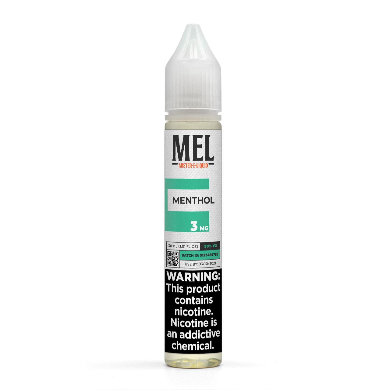 MEL Menthol Vape Juice, 3 mg