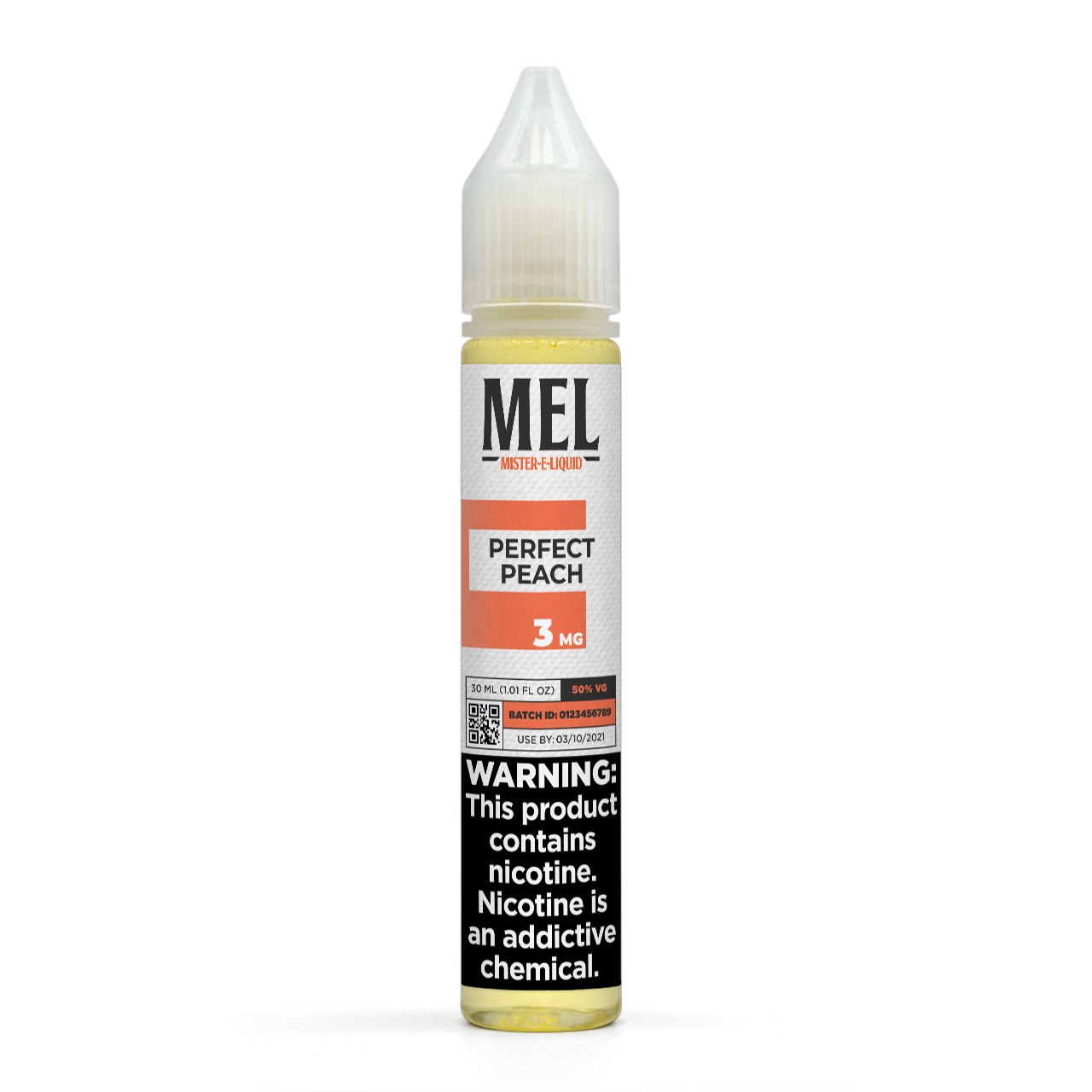 MEL Perfect Peach Vape Juice, 3 mg