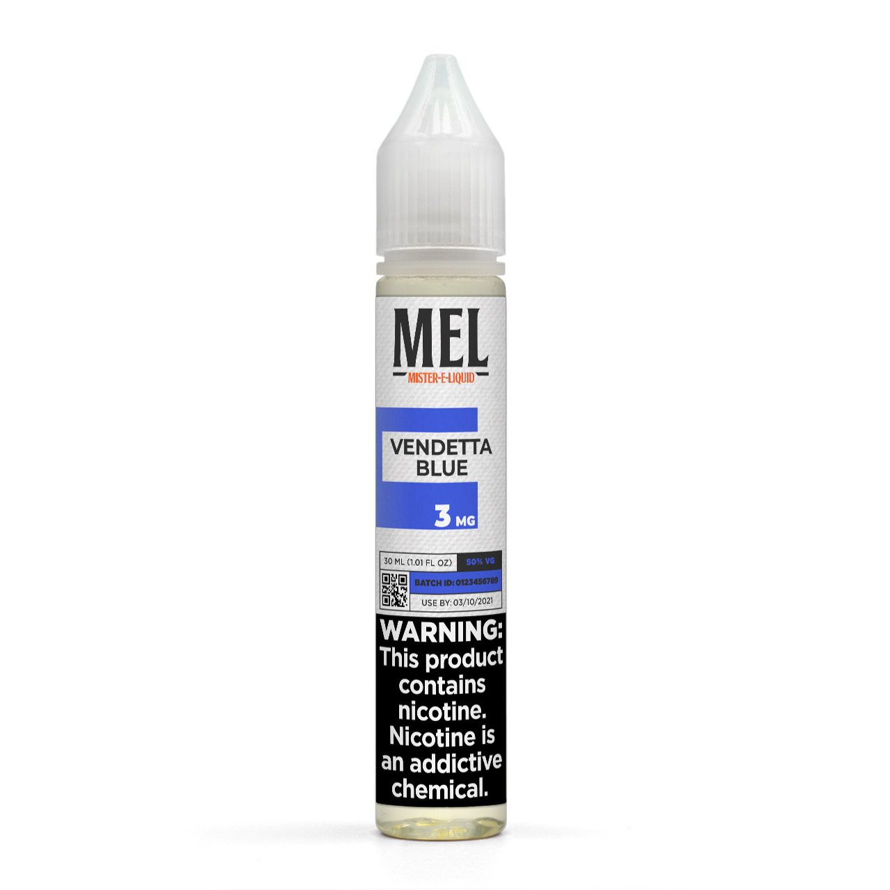 MEL Vendetta Blue Vape Juice, 3 mg